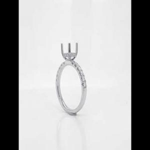 18kt White Gold Diamond Semi-mount