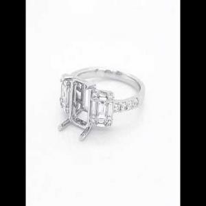 18kt White Gold Diamond Semi-mount