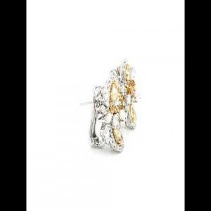 18kt Two-Tone Diamond Earring